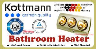 Đèn sưởi nhà tắm Kottman 3 bóng
